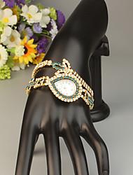 Недорогие -FEIS Жен. Часы-браслет Кварцевый Золотистый Секундомер Аналого-цифровые Дамы Мода - Синий