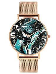 Недорогие -Жен. Наручные часы Японский Кварцевый Нержавеющая сталь Серебристый металл / Золотистый / Розовое золото Секундомер Очаровательный Творчество Аналоговый Дамы Мода Цветной -  / Два года / Два года