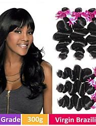 ieftine -4 pachete Ondulee Largi 8A Păr Natural Neprocesat Accesoriu de Păr Umane tesaturi de par Atribut Îngrijire Păr 8-28 inch Culoare naturală Umane Țesăturile de par Creative Mătăsos Modă Umane extensii