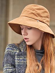 Недорогие -Жен. Винтаж / Праздник Котелок / клош / Панама / Широкополая шляпа Однотонный