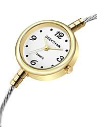 Недорогие -Жен. Часы-браслет Кварцевый Зеленый / Золотистый Повседневные часы Cool Аналоговый Дамы Мода - Серебряный Золотистый Золото / Белый