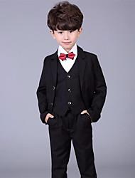Недорогие -Черный Хлопок / Смесь хлопка и льна Детский праздничный костюм - 1 комплект Включает в себя Жилетка