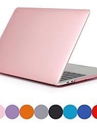 Недорогие -чехол для MacBook Air Pro Retina 11 12 13 15 крышка ноутбука сплошной цвет прозрачный матовый чехол из ПВХ для MacBook New Pro 13,3 15 дюймов с сенсорной панелью