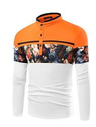 billige -mænds slanke skjorte - farveblokstativ