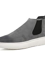Недорогие -Муж. Комфортная обувь Замша Зима На каждый день Ботинки Сохраняет тепло Черный / Серый / Черный / Красный