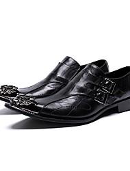 Недорогие -Муж. Обувь для новинок Наппа Leather Наступила зима На каждый день / Английский Туфли на шнуровке Нескользкий Черный / Свадьба / Для вечеринки / ужина