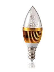 abordables -3W 3000lm E14 Ampoules Bougies LED C35 3 Perles LED LED Haute Puissance Intensité Réglable Décorative Blanc Chaud 220-240V