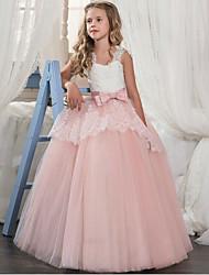 abordables -Princesse Rétro Années 70 Années 80 Costume Fille Enfant Robes Costume de Soirée Violet / Rouge / Rose Vintage Cosplay Organza Sans Manches Tee-shirt