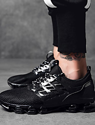 abordables -Unisexe Chaussures de nouveauté Tissage Volant Printemps & Automne Sportif / Décontracté Basket Massage Bottine / Demi Botte Noir / Noir / Rouge / noir / vert