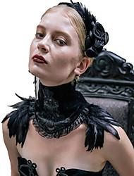 Недорогие -Черный лебедь Все Винтаж Готика Steampunk Бижутерия Аксессуары Лолиты Ожерелья Ожерелье Шарф Черный Мода  Перья Винтаж Полиэстер Neckwear Лолита Аксессуары