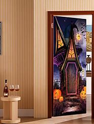 abordables -Autocollants muraux décoratifs / Autocollants de porte - Autocollants avion Religieux / 3D Salle de séjour / Chambre à coucher