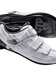 Недорогие -Обувь для шоссейного велосипеда Нейлон, стекловолокно, воздушное отверстие,противоскользящие протекторы Дышащий Амортизация Вентиляция Велосипедный спорт / Велоспорт Для велоспорта Белый Муж.