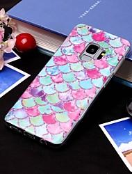 Недорогие -Кейс для Назначение SSamsung Galaxy S9 / S9 Plus / S8 Plus IMD / Полупрозрачный Кейс на заднюю панель Полосы / волосы Мягкий ТПУ