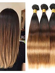Недорогие -3 Связки Малазийские волосы Прямой 10A человеческие волосы Remy Накладки из натуральных волос 8-26 дюймовый Ткет человеческих волос Мягкость Лучшее качество Новое поступление