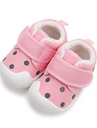 Недорогие -Мальчики / Девочки Обувь Хлопок Зима Обувь для малышей Кеды На липучках для Дети Синий / Розовый / Винный