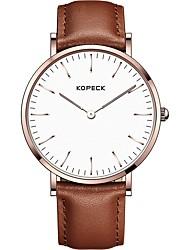 Недорогие -Kopeck Муж. Наручные часы электронные часы Японский Японский кварц Натуральная кожа Черный / Коричневый / Шоколадный 30 m Защита от влаги Новый дизайн Аналоговый Винтаж На каждый день -