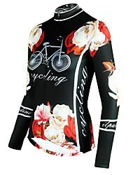 Недорогие -ILPALADINO Жен. Длинный рукав Велокофты - Черный Мода Велоспорт Верхняя часть Зима, Эластан