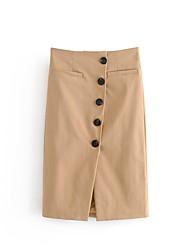 Недорогие -женские хлопчатобумажные мини-юбки для тела - сплошной цвет