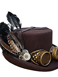 Недорогие -Косплей Доктор чумы Steampunk Костюм Все Шапки шляпа Черный / Коричневый Винтаж Косплей Сукно Хром