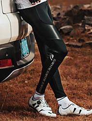 Недорогие -SANTIC Муж. Велолосины Велоспорт Велоспорт Колготки / Нижняя часть С защитой от ветра, Дышащий Пэчворк Эластан Черный Средний уровень Горные велосипеды Свободное облегание Одежда для велоспорта