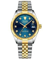Недорогие -Муж. Наручные часы Японский Кварцевый Нержавеющая сталь Серебристый металл / Золотистый Защита от влаги Календарь Секундомер Аналоговый Роскошь Блестящие - Лиловый Красный Синий / Два года / Два года