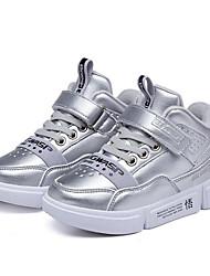 abordables -Garçon Chaussures Matière synthétique Hiver Confort Basket Scotch Magique pour Enfants Noir / Argent / Rouge