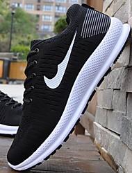 Недорогие -Муж. Комфортная обувь Сетка Весна лето Деловые / На каждый день Спортивная обувь Дышащий Контрастных цветов Черный / Серый / Красный / Амортизирующий