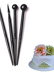 Недорогие -4pcs цветок лепестки выпечки моделирование формы перо торт украшения пера сахара скульптуры