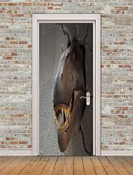 Недорогие -Дверные наклейки - 3D наклейки Рождество / Праздник В помещении / На открытом воздухе