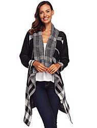 povoljno -ženska vunena dugačka vunena dugačak kardigan - provjerite