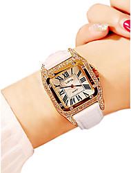 baratos -Mulheres Relógio de Pulso Quartzo 30 m Impermeável Relógio Casual PU Banda Analógico Casual Fashion Preta / Branco / Vermelho - Roxo Vermelho Rosa claro