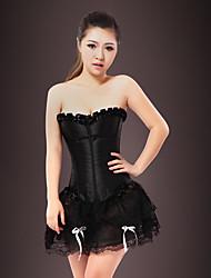 ราคาถูก -ที่ไม่ใช่ส่วนบุคคล 100% โพลีเอสเตอร์ เสื้อลัดลำตัวสตรี Party / Evening