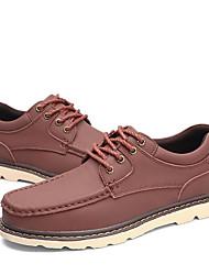 baratos -Homens Sapatos Confortáveis Pele Primavera & Outono Formais Oxfords Café / Castanho Claro / Castanho Escuro