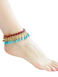 ราคาถูก -สำหรับผู้หญิง ถัก สร้อยข้อมือข้อเท้า - โลลิต้าแบบคลาสสิก เครื่องประดับ ขาว / แดง / ฟ้า สำหรับ ทุกวัน เทศกาล