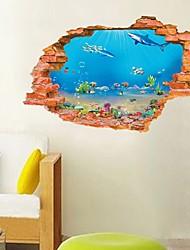 abordables -Autocollants muraux décoratifs - Autocollants avion / Autocollants muraux animaux Paysage Chambre à coucher / Chambre des enfants