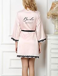 baratos -Personalizado Seda Sintética Robes e Chinelos Casamento