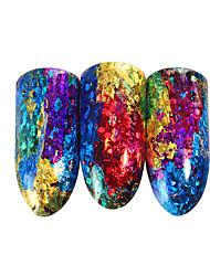 ieftine -1 pcs 3D Acțibilduri de Unghii Galaxie nail art pedichiura si manichiura Culoare Gradient / Cea mai buna calitate La modă / Modă Zilnic