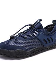 Недорогие -Муж. Комфортная обувь Сетка / Синтетика Весна лето Спортивные Спортивная обувь Для плавания Дышащий Темно-синий / Серый / Коричневый