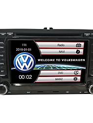 baratos -520WGNR04 7 polegada 2 Din Windows CE 6.0 / Windows CE In Dash-DVD Sem fio Integrado / satélite / iPod para Volkswagen Apoio, suporte