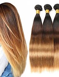 Недорогие -3 Связки Бразильские волосы Прямой человеческие волосы Remy Накладки из натуральных волос 8-26 дюймовый Ткет человеческих волос Мягкость Лучшее качество Новое поступление Расширения человеческих волос