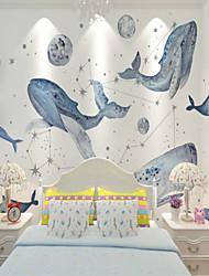 baratos -papel de parede / Mural Tela de pintura Revestimento de paredes - adesivo necessário Pintura / Art Deco / 3D