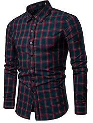 Недорогие -Муж. Рубашка Классический В клетку