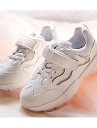 abordables -Fille Chaussures Croûte de Cuir / Matière synthétique Eté Confort Basket Scotch Magique pour Enfants Argent