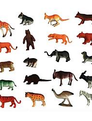 Недорогие -Фигурки животных Лев Зебра Медведи Животные Ластик Детские Все Игрушки Подарок 20 pcs
