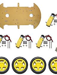 Недорогие -шасси для умного автомобиля / автомобиль для измерения скорости 4wd / четырехколесный / высокая мощность магнето st-4wd / одноярусный