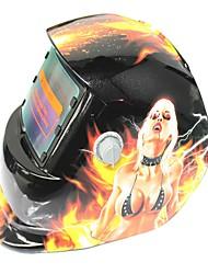 Недорогие -Солнечная автоматическая фотоэлектрическая сварочная маска 107 белых волос ведьма