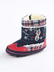 Недорогие -Мальчики / Девочки Обувь Хлопок / Синтетика Зима Обувь для малышей Ботинки Кружева для Дети Синий