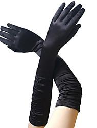 Недорогие -Одри Хепберн 1950-е года Перчатки Длинные перчатки Жен. Костюм Черный / Золотой / Белый Винтаж Косплей Для вечеринок Выпускной