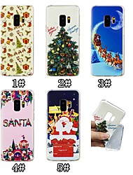 Недорогие -Кейс для Назначение SSamsung Galaxy S9 Plus / S9 С узором Кейс на заднюю панель Рождество Мягкий ТПУ для S9 / S9 Plus / S8 Plus