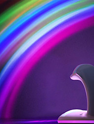 billige Originale lamper-1pc Whale Dolphin LED Night Light / Nursery Night Light Fargerik Usb For barn / Oppladbar / Berør sensoren 5 V